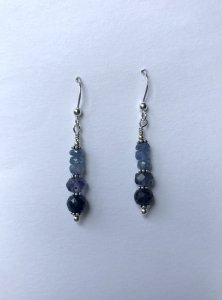 Beaded Sapphire Earrings