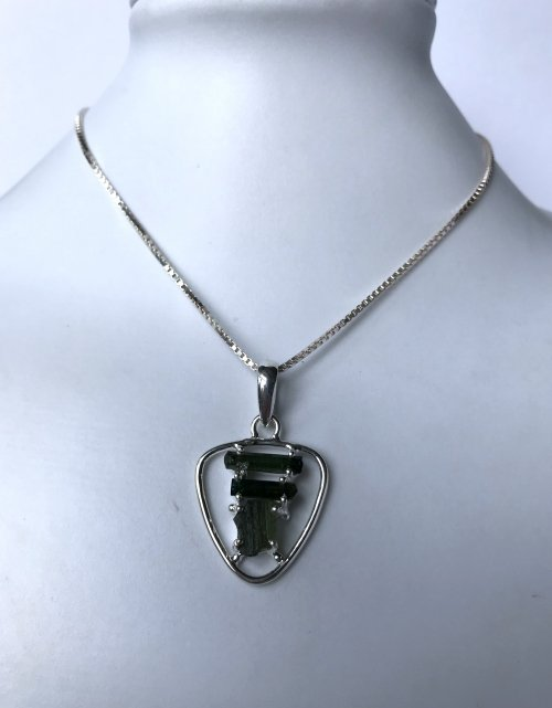 Moldavite Tourmaline Necklace