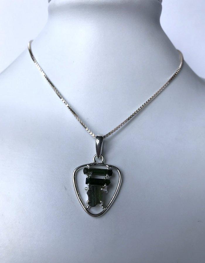 Moldavite Tourmaline Necklace