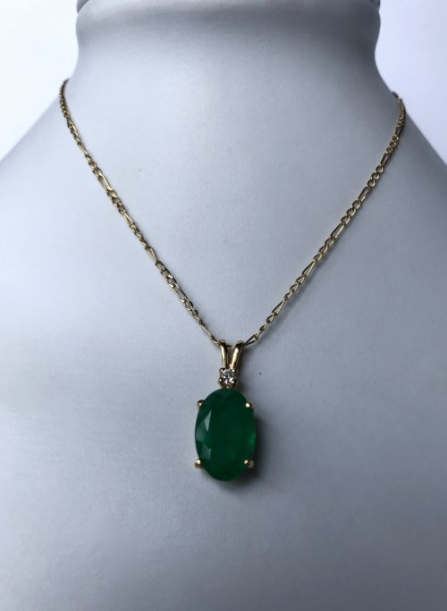 Emerald Diamond Necklace