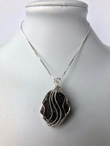 ADK Garnet Wire Wrapped Necklace